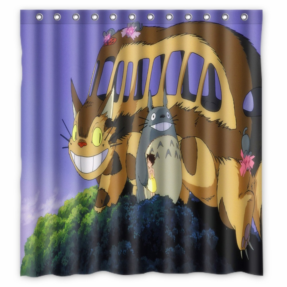 Anime Shower Curtain One Piece Dragon Ball Z Bleach Fairy Tail Naruto Together My Neighbor Totoro 66x72 Inch