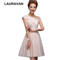girl elegante one shoulder champagne ivory bridesmaid party dress pretty dresses gowns for special occasion girls knee length
