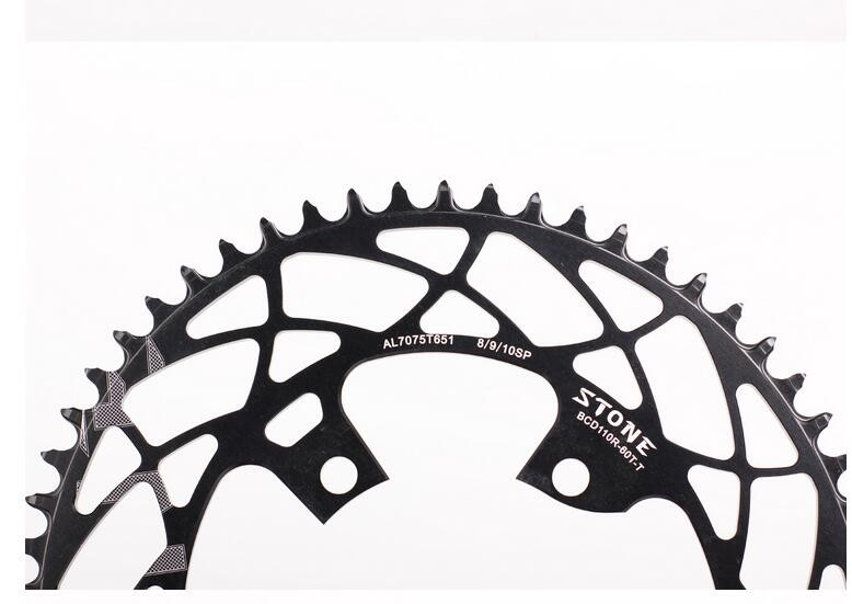 Stone 110 BCD Oval Chainring For Shimano R7000 r8000 r9100 Aero Narrow and  Wide 42/46/48/50/54/55/58/60T Road Bike with Bolts