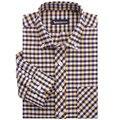 Positivo hombres de la marca de camisetas hombres de la camisa oxford de hierro a cuadros de manga larga blanco y negro amarillo a cuadros camisas de hombre A1273