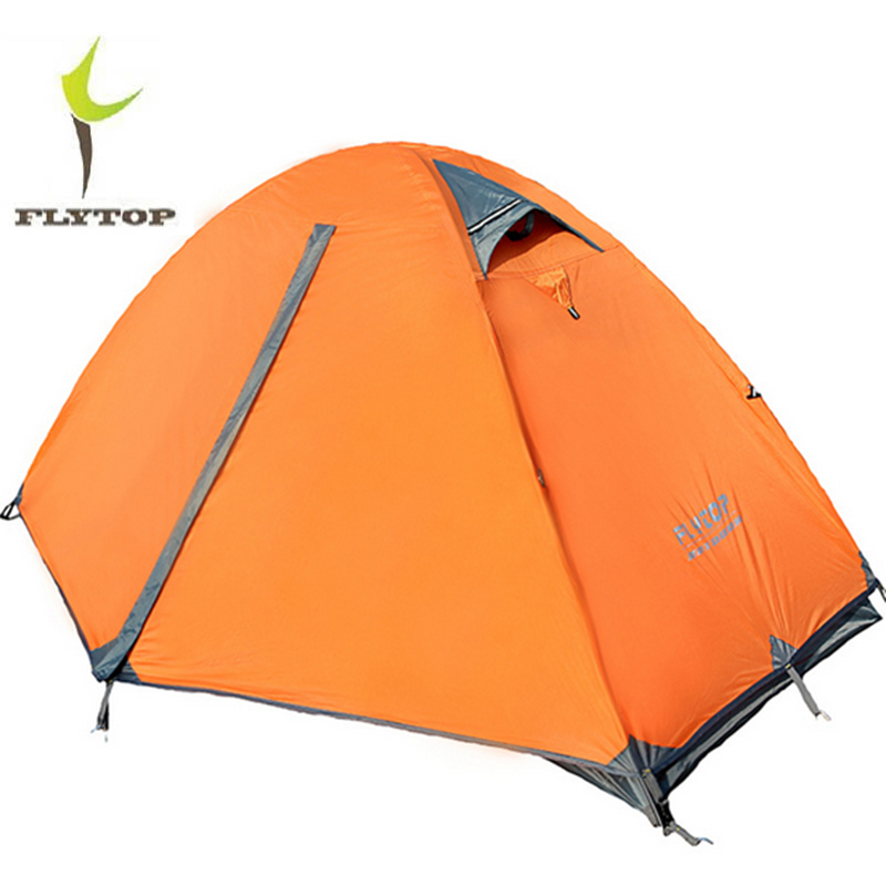 FLYTOP 1 Person Outdoor Camping Tent Double Door Riding Walking Hiking Hunting Fishing Waterproof Tents Camping