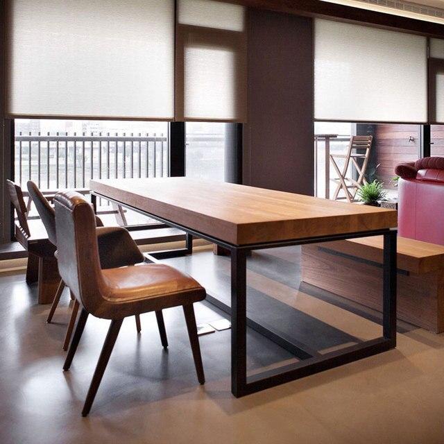 Woonkamer meubels eettafel en stoel smeedijzeren voor eetkamer ...