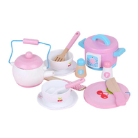 14pcs Baby Simulation Electric Rice Cooker Set Wooden Toys For Kids Kitchen Toys Set Educational Toys Gift