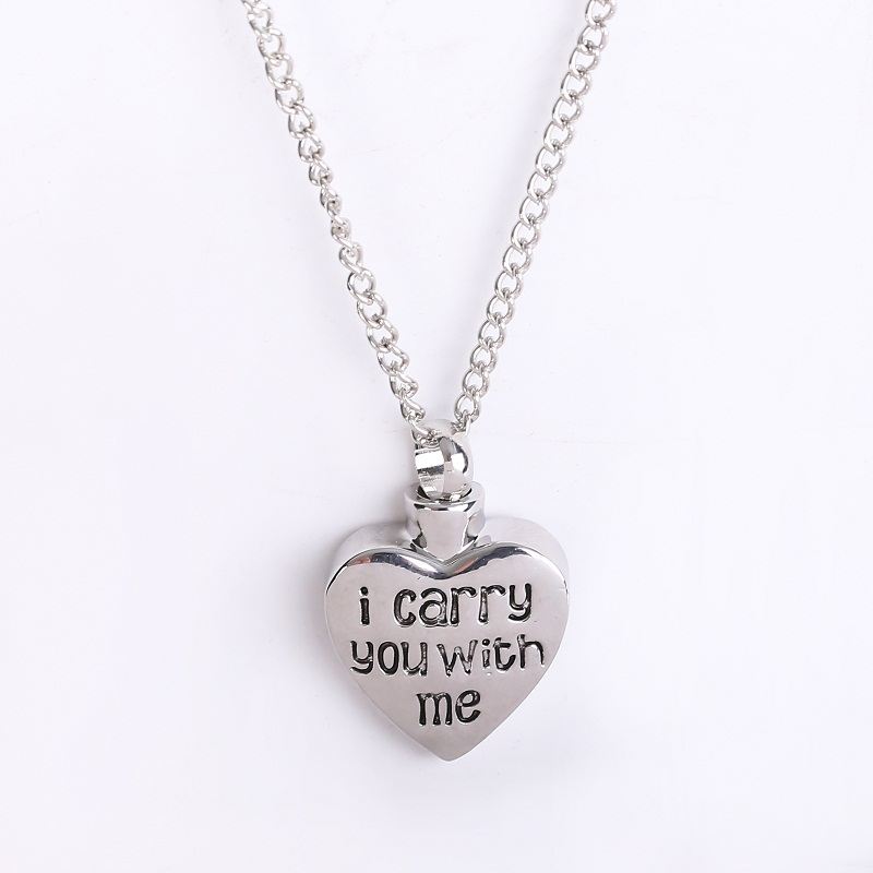 i carry you with me cremation jewelry ashes urn necklace for