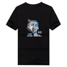 2017 New Zach LaVine 8 T-shirt 100% cotton 8 short sleeve Minnesota face T shirt 0113-8