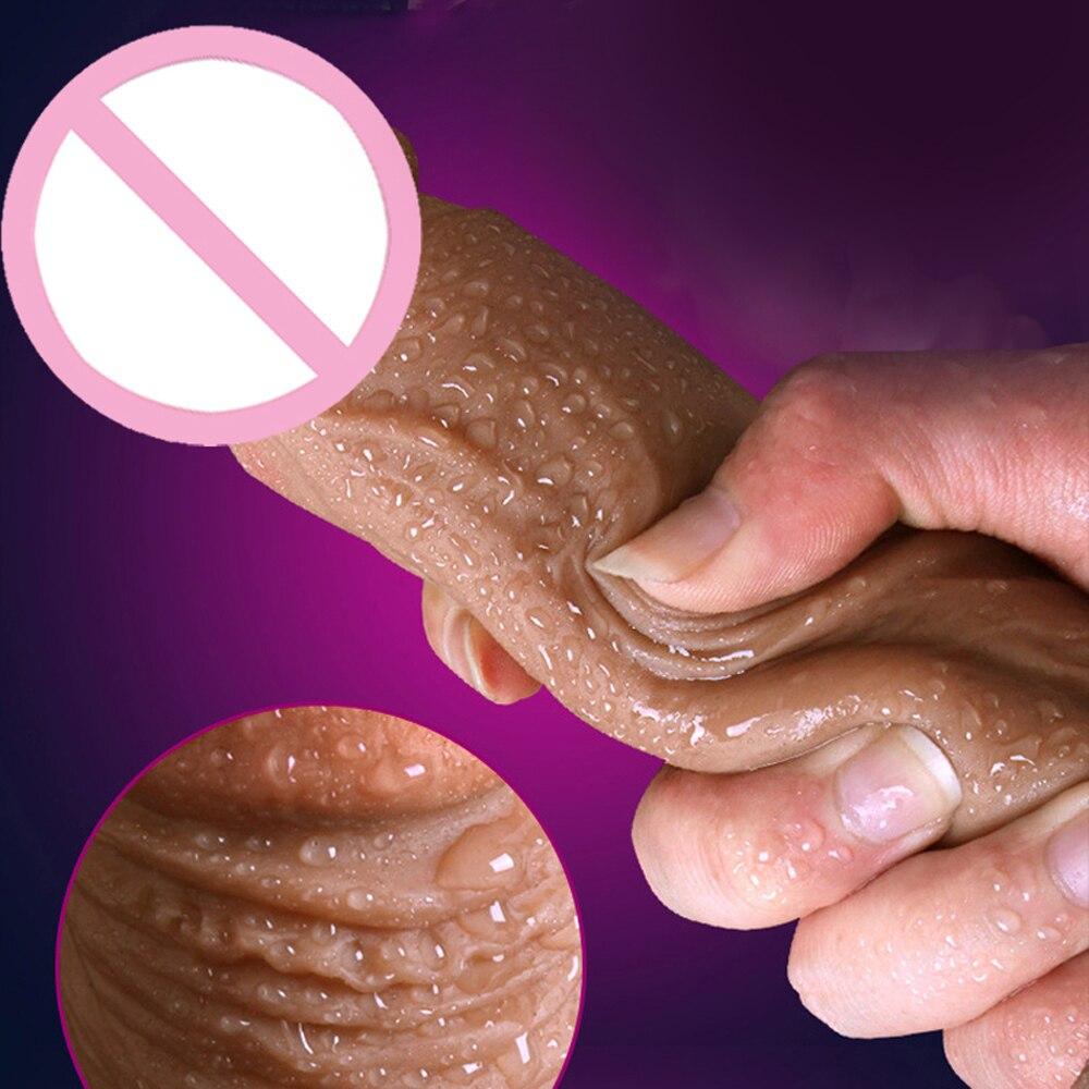 Электронная кожа Реалистичная супер огромная большая с присоской Вибрация петух игрушки для женщин