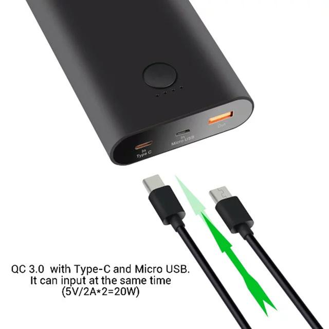 5 unids 15000 mah powerbank cargador rápido tipo c micro usb de copia de seguridad externa qc 3.0 cargador rápido de batería para iphone 7 plus oneplus 3
