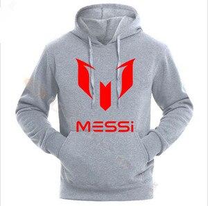 Image 2 - Lionel Messi Calcio Con Cappuccio Unisex Adulto Argentina Barcelona Hoody Gioventù