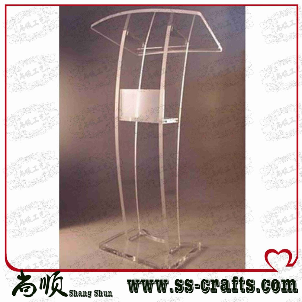 Free shipping Clear Lucite Platform Clear Lucite Podium cheap church podium