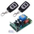Hot AC 220 V 10A 1CH RF Transceptor Sem Fio 315 MHZ Receptor 2 Controladores Remotos Frete Grátis