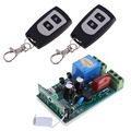 Hot AC 220V 10A 1CH Receiver 2 Remote Controllers RF Wireless Transceiver 315 MHZ Free Shipping