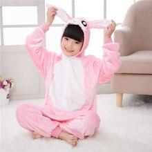 Розовый животных Кролик с большими ушами кигуруми кролик костюмированные  пижамы дети комбинезоны обувь для девочек сиамские cf66daa5d875d