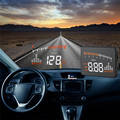 Novo X5 3 ''OBD II Carro Universal HUD Combustível ícone Head Up Display LED Aviso MPH Velocidade Do Carro-styling Varejo & Atacado Grátis grátis