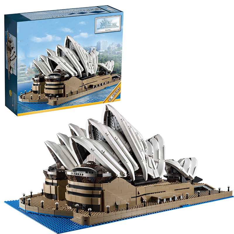 Lepin 17003 Sydney Opera House building bricks blocks Gift Toys for children boys Game Compatible with Bela Decool 10234 hot sembo block compatible lepin architecture city building blocks led light bricks apple flagship store toys for children gift