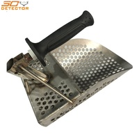 Handheld metal detector gold digging tool military shovel stainless steel scoop for sand