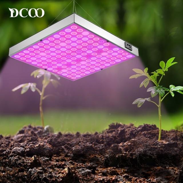 DCOO lampa fito 45W LED rośliny świetlówka do roślin 265V pełne spektrum dla kryty roślin szklarniowych do kwiatów hydroponiczne Panel świetlówka do roślin