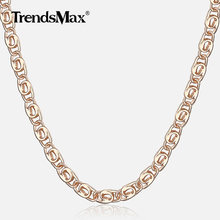 Womens 585 Rose Gold Necklace Thin Snail Link Paperclip Chain Necklaces For Women Elegant Fashion Jewelry Girl Gifts 2.5mm CN15(Hong Kong,China)