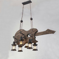 Vintage Iron Pendant Light Industrial Loft Retro Bar Cafe Bedroom Restaurant Kitchen American Country Style Hanging Lamp