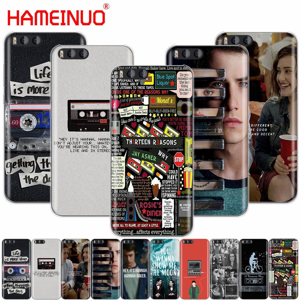 HAMEINUO Thirteen 13 Reasons Why Quotes Cover Case for Xiaomi Mi 3 4 5 5S 5C 5X 6 Mi3 Mi4 4S 4I 4C Mi5 MI6 NOTE MAX 2 mix plus