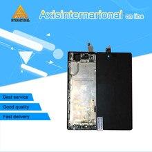 Para ZTE Nubia Z9 mini NX511j Axisinternational pantalla LCD + el panel de tacto digitalizador con marco blanco/negro libre gratis