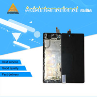 Axisinternational LCD Screen Display Touch Panel Digitizer With Frame For ZTE Nubia Z9 Mini NX511j White