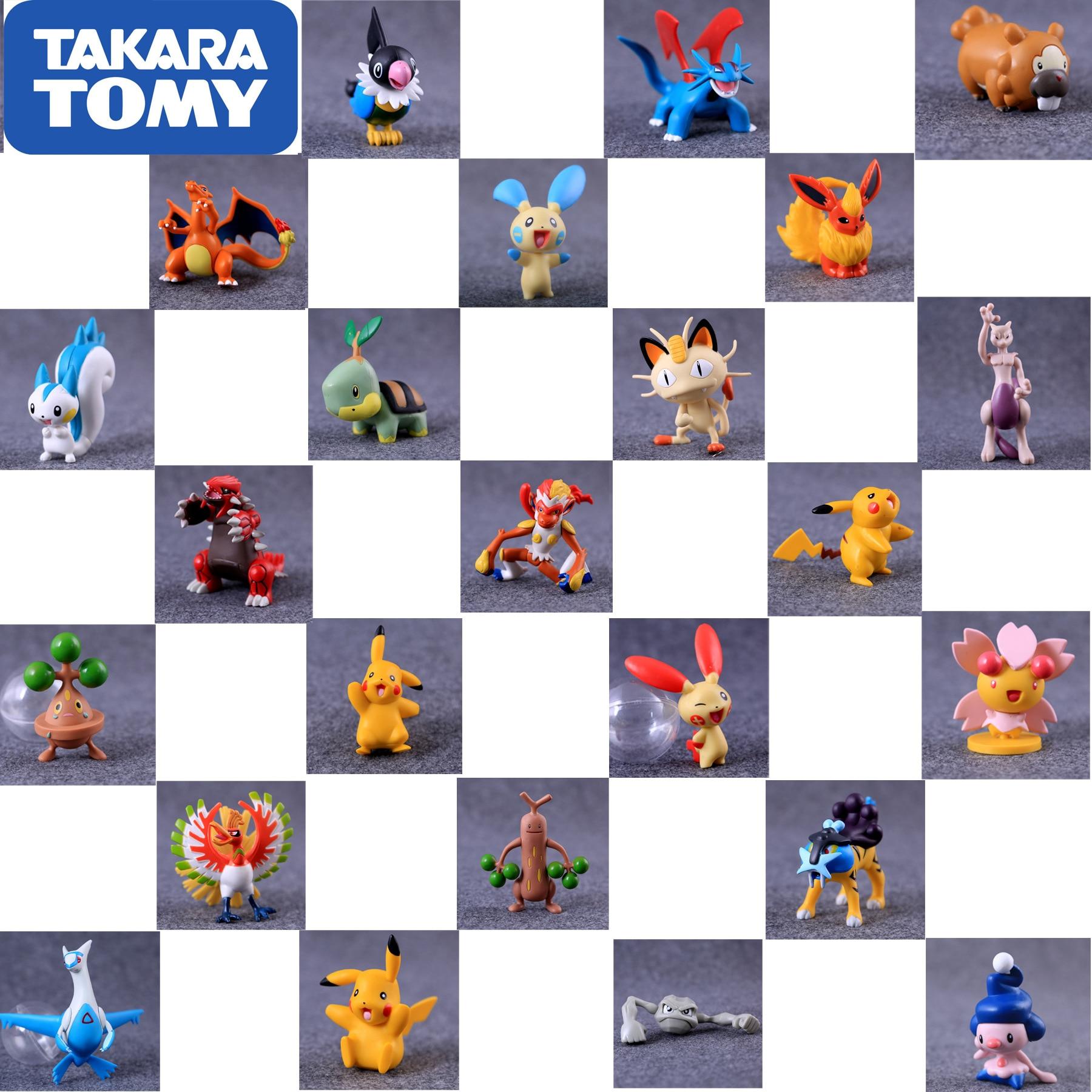 4-15cm Takara Tomy Pokemon Pikachu Wartortle Charmeleon Delphox Ivysaur Venusaur MEGA Anime Action & Toy Figures Model