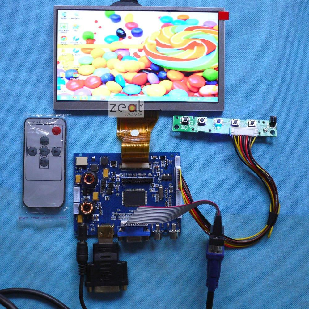 цена AT070TN90 AT070TN92 AT070TN94 7 INCH LCD HDMI VGA 2AV A/D DVI Audio NEW Board 800*480 Resolution CAR PC Display Screen