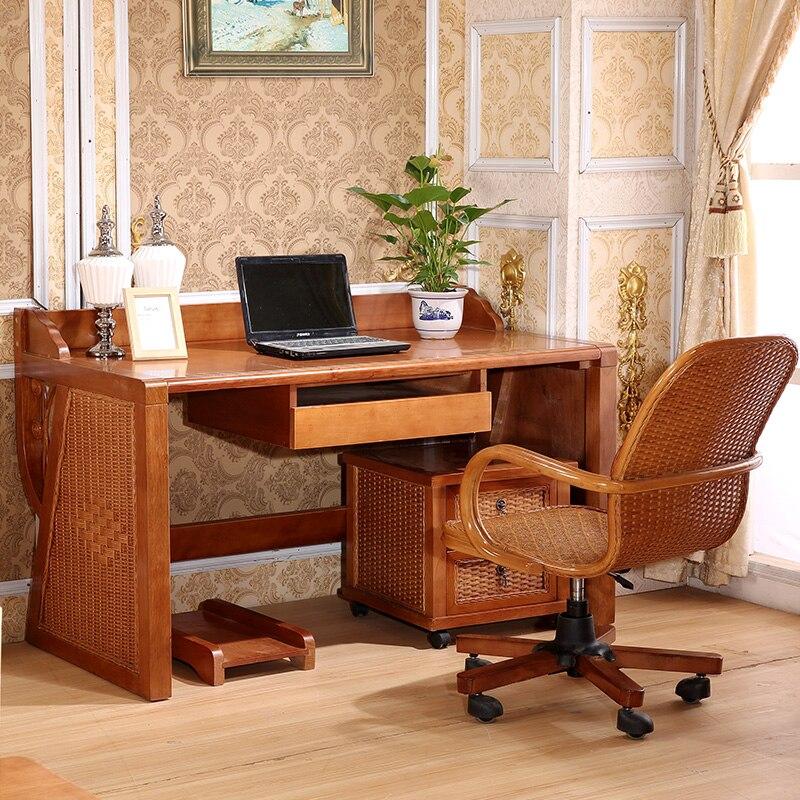 Tisch Schreibtisch Stuhl Veranda Rattan Kombination Von Echt Mobel