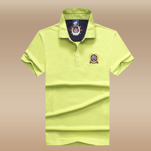 2798791fd High Quality Men Solid Color Polo Shirts Cotton Light Green Short Sleeve  New Arrival 2016 Men Polos Shirt Brand Casual Size XXXL