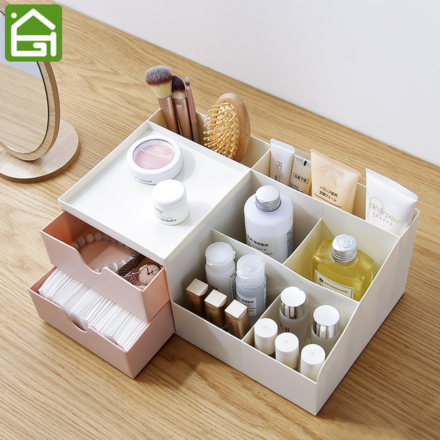 Plastic Makeup Organizer For Counter Bathroom Cosmetic Storage Drawer  Jewelry Box