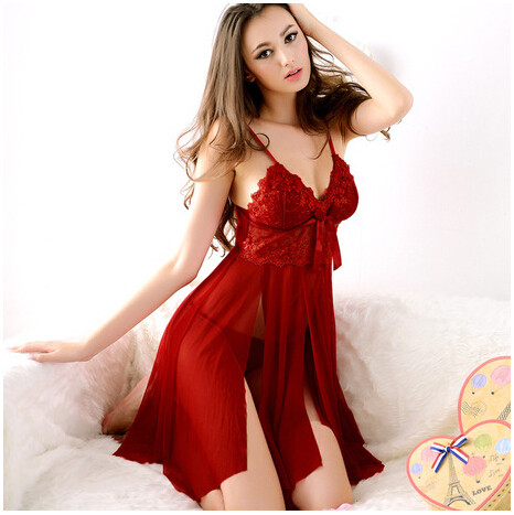 2016-Hot-Sale-Women-Spaghetti-Straps-Mesh-Lace-Slips-Sexy-Nightwear-Nightgown-Nightdress-Lady-Sleepwear-Pajamas (1)