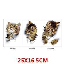 Мультяшные животные 3D наклейки для туалета s на сиденье для унитаза милые кошки ПВХ наклейки на стену ванная комната холодильник дверь Декор наклейки s наклейки