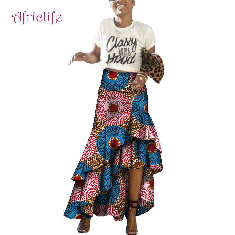 Fashion New African Women Ankle Length Skirt Sexy Style Print Customized Unique Ankara WY3681