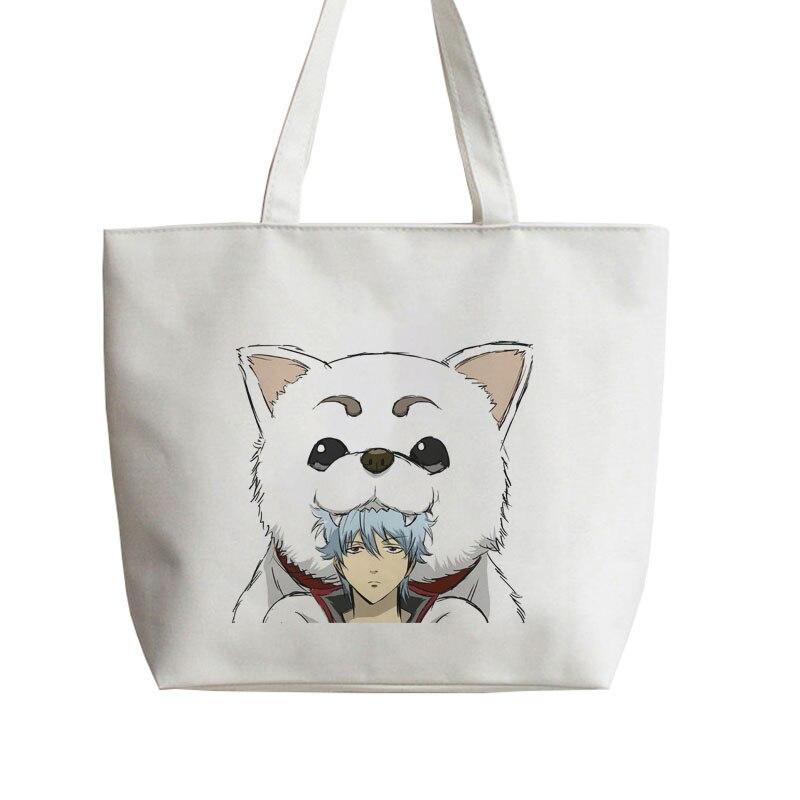 GINTAMA Sadaharu ,<font><b>Elizabeth</b></font> ,just away, Japanese Anime Shopping bag <font><b>Handbag</b></font> Canvas bag Tote bags AN067