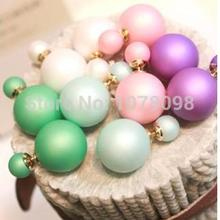 fashion hot selling matte earrings paragraph on both sides simulated pearl (15mm) Atmospheric simulated pearl earrings large