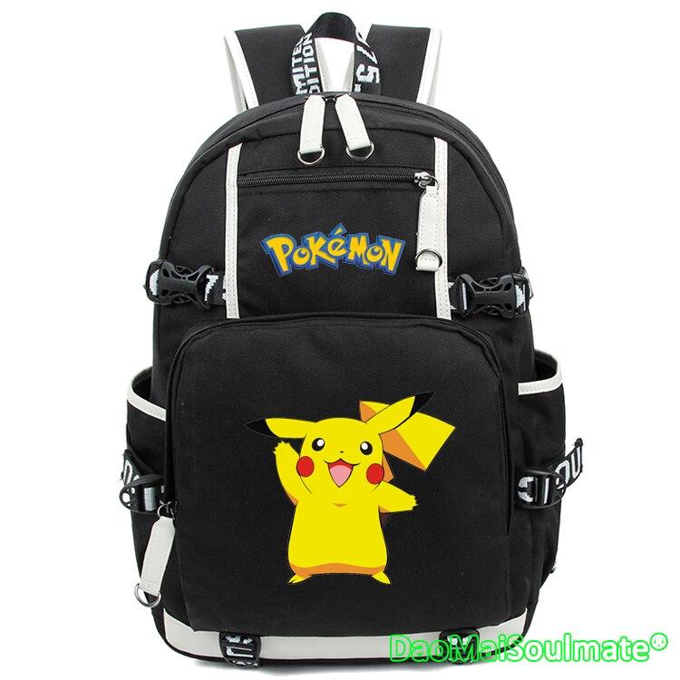 pikachu cartable pokemon go backpack anime bag mochila harajuku backpacks rucksack escolar laptop bag school bags