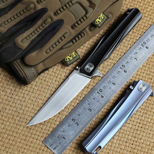 STEDEMON TIMIDE Solide titanium poignée CTS-204P lame Flipper brearing couteau pliant camping chasse couteaux de Survie en plein air EDC outil