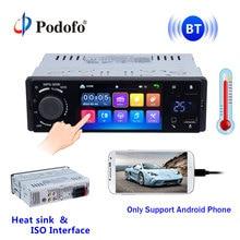 "Podofo 4 ""Car Radio Bluetooth Autoradio 1 Din Touch Screen Stereo Audio Video MP5 USB TF Temperatura Display Vivavoce in-dash"