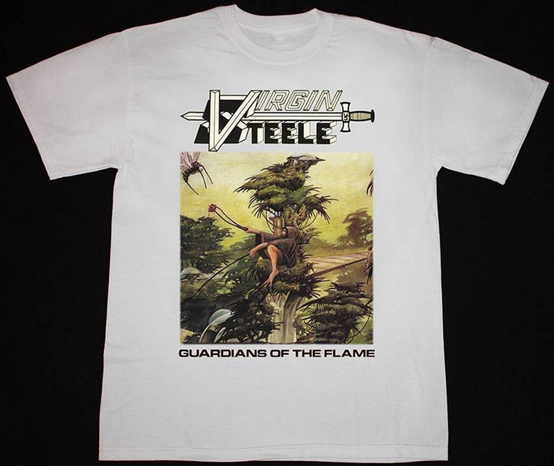 Shirt Store Crew Neck Virgin Steele Guardians Of The Flame Heavy Power Metal Omen Men Short Tall T Shirt