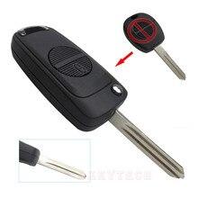 OkeyTech 2 Button Modified Remote Flip Folding Key Shell for Nissan Micra Almera Primera X-Trail A33 Blank Blade Key Cover Case