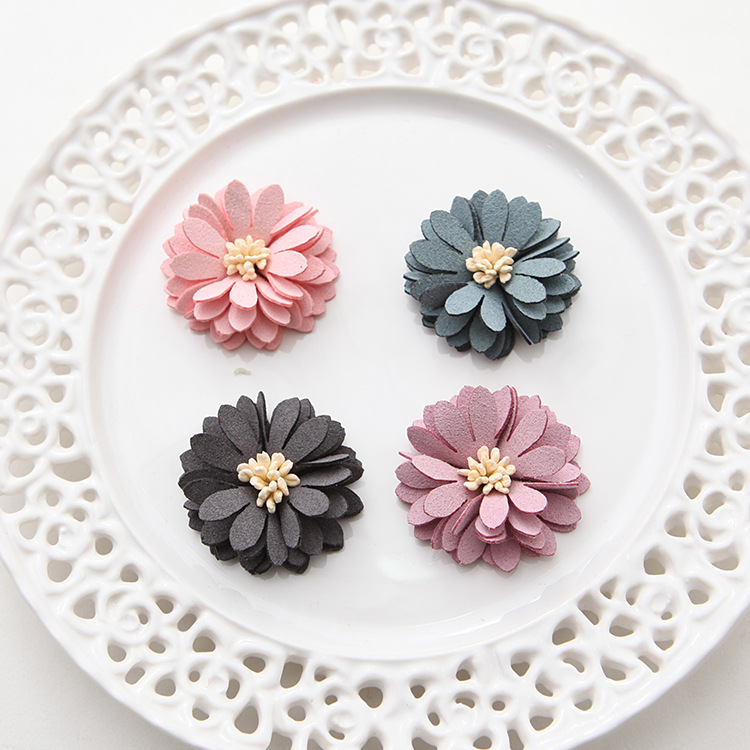 Beads & Jewelry Making Back To Search Resultsjewelry & Accessories 20 Pcs Satin Cloth Gauze Flowers Connectors Diy Handmade Headwear Accessories For Jewelry Making