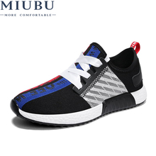 MIUBU High Quality Fashion Air Mesh Men Shoes Summer Breathable Outdoor Sneakers Casual Lace-Up