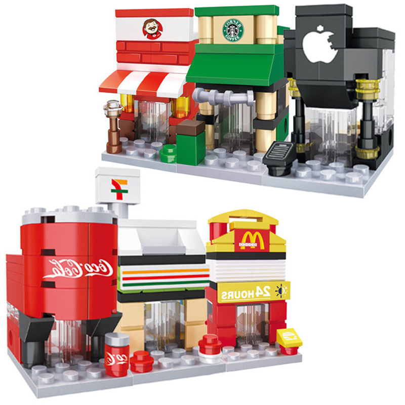 Mini City Street 3D Retail Store Cafe Mini Shop ...