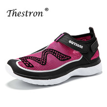 2019 New Trend Water Shoes For Ladies Summer Mesh Sneakers Light Weight Quick Dry Shoes Women Black Rose Red Women's Aqua Shoes