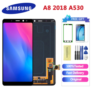 5.6'' ORIGINAL Display LCD for SAMSUNG Galaxy A8 2018 LCD A530 LCD Touch Digitizer Assembly Replacement A8 2018 LCD(China)