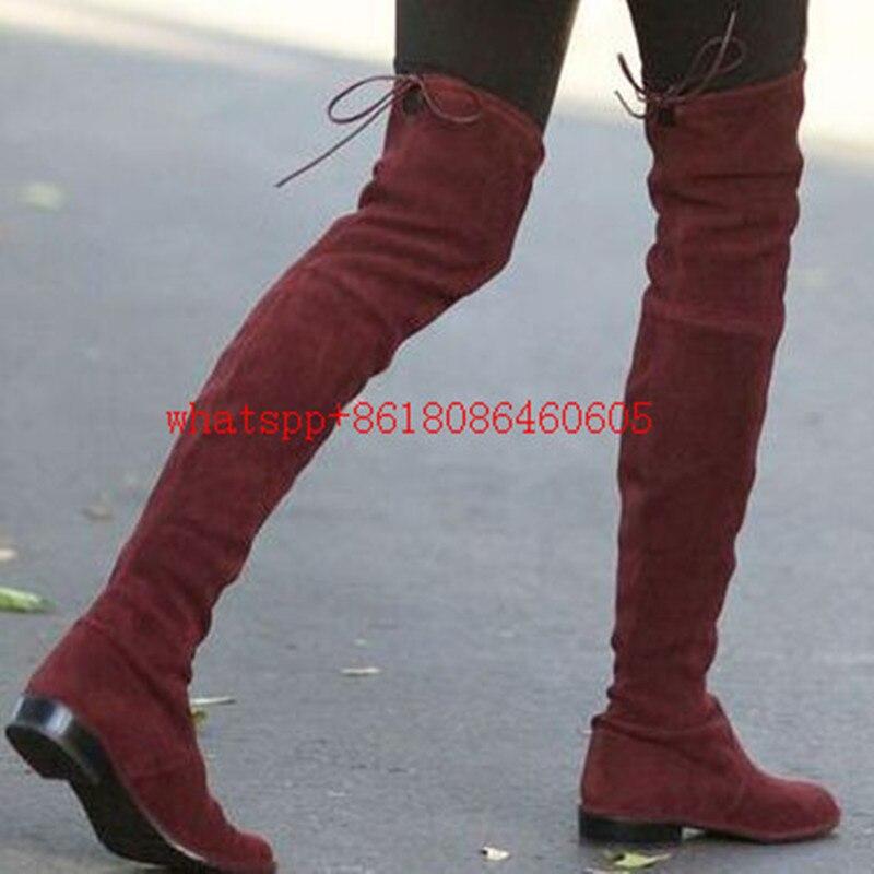 Online Get Cheap Flat Leather Thigh High Boots -Aliexpress.com ...