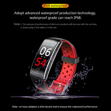 Q8S Heart Rate Monitor Waterproof Fitness Tracker Blood Pressure Smart Watch