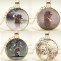 1pcs/lot Hedgehog Pendant Necklace Long Chian Statement Handmade Silver Fashion Necklace Jewelry