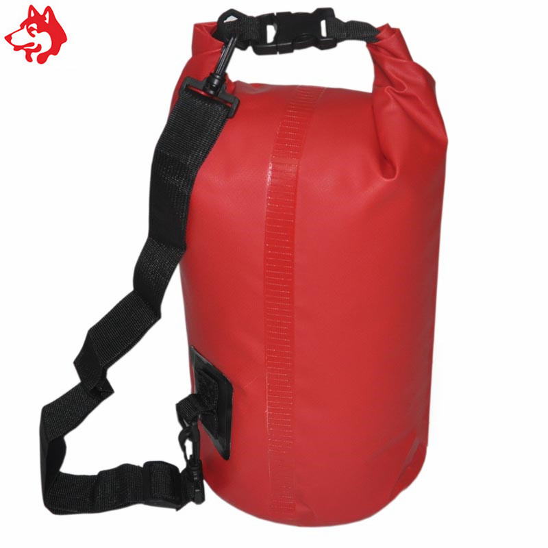 Купить с кэшбэком 15L swimming dry bag outdoor Tarpaulin water resistant Bag with Shoulder Strap Red/Green Camping climbing waterproof PVC Dry bag