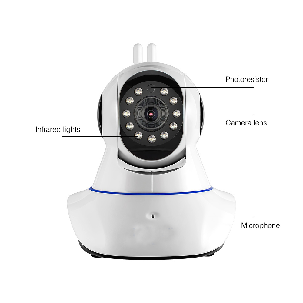 Wireless WiFi HD IP Camera WiFi GSM Home Intruder Burglar Alarm System Security 720P 3.6mm len GSM Surveillance Device Rated free shipping etiger s3b wireless security alarm system with gsm transmitter 433mhz es cam2a wifi hd 720p day night ip camera